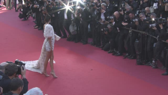 vídeos de stock, filmes e b-roll de clean at 'come swim' red carpet at on may 20 2017 in cannes france - cannes