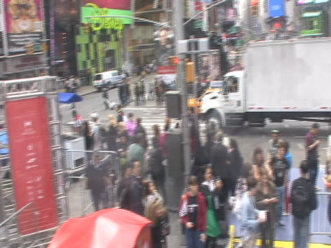 at countdown to olympics event in times square in new york city. - sport stock videos & royalty-free footage