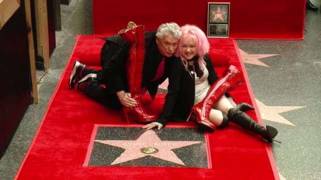 CHYRON at Cyndi Lauper and Harvey Fierstein Honored With Star On The Hollywood Walk Of FameCyndi Lauper Harvey Fierstein Sharon Osbourne at Hollywood...