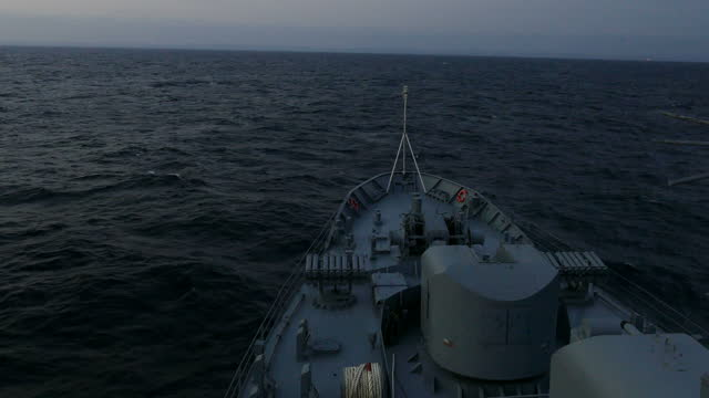 at dawn aboard a warship - warship stock videos & royalty-free footage