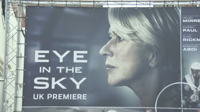 ATMOSPHERE at Eye in the Sky Premiere at The Curzon Mayfair on April 11 2016 in London England