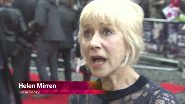 CHYRON at Eye in the Sky Premiere at The Curzon Mayfair on April 11 2016 in London England