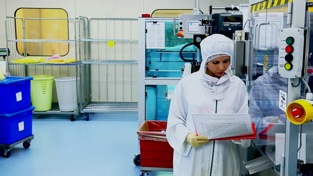 qc at factory for the production of medical equipment - middle east stock videos & royalty-free footage