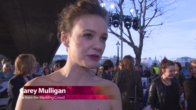 chyron at 'far from the madding crowd' premiere at bfi southbank on april 15 2015 in london england - event capsule stock videos & royalty-free footage