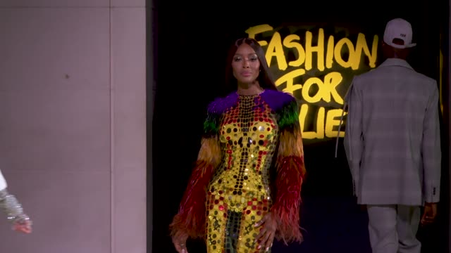 runway at fashion for relief 2019 at british museum on september 14 2019 in london england - naomi campbell stock videos & royalty-free footage