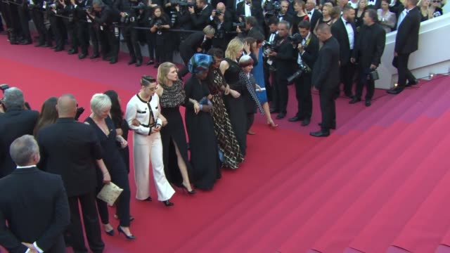clean at 'girls of the sun' red carpet arrivals the 71st cannes film festival at grand theatre lumiere on may 12 2018 in cannes france - 71st international cannes film festival stock videos & royalty-free footage