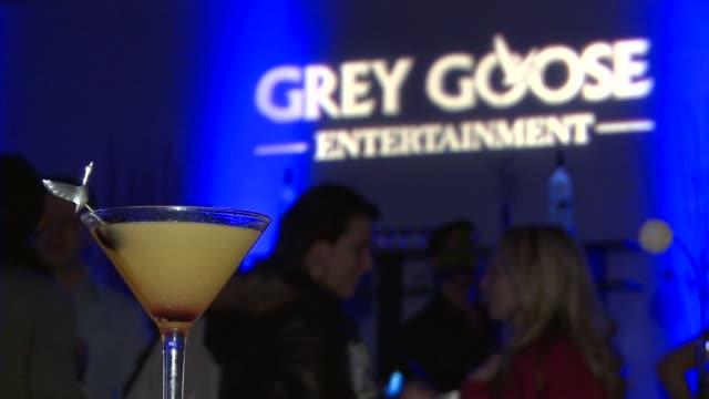 at grey goose blue door lounge in park city, utah, on 1/21/2012 - グレイグース点の映像素材/bロール