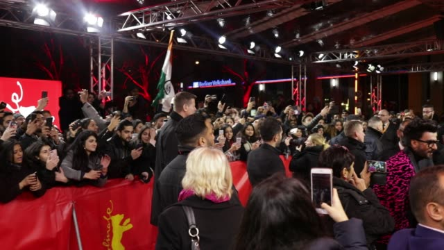 atmosphere at 'gully boy' premiere 69th berlin film festival - film premiere stock videos & royalty-free footage
