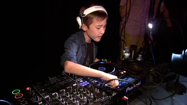 ATMOSPHERE DJ at Heidi Klum Presents Her Holiday Truly Scrumptious Collection For Babies'R'Us At Kids Fashion Week In NYC at Industria Studios on...