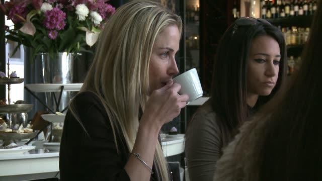 at her 29th birthday high tea reeva steenkamp at da vinci hotel on august 12 2012 in johannesburg south africa - リーバ・スティンカンプ点の映像素材/bロール