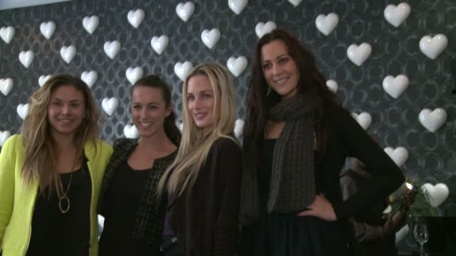 at her 29th birthday high tea with chantelle da silva and jay anstey reeva steenkamp on august 12 2012 in johannesburg south africa - リーバ・スティンカンプ点の映像素材/bロール
