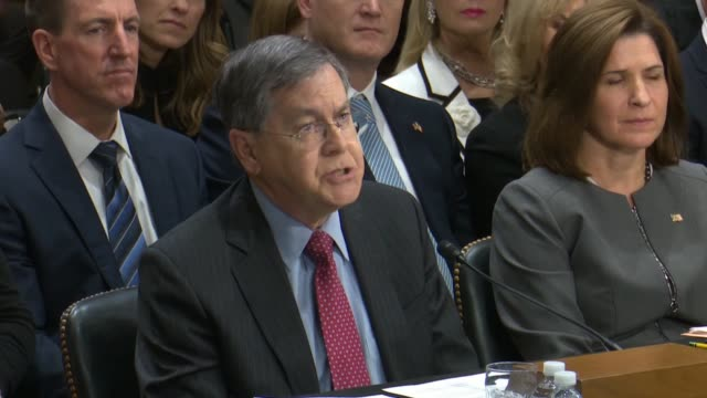at his nomination hearing to be united states ambassador to turkey and david satterfield quotes vice president mike pence that the nation has a... - botschafter stock-videos und b-roll-filmmaterial
