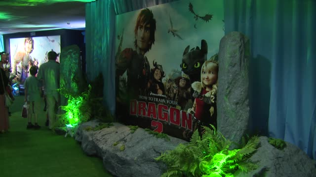 atmosphere at how to train your dragon 2 gala screening on 22 june 2014 in london england - how to train your dragon stock videos & royalty-free footage