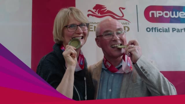 clean at jack laugher hometown celebrations party at jackie and david laugher parents of gold medal winning diver jack laugher / the mayor of ripon /... - guter zustand stock-videos und b-roll-filmmaterial