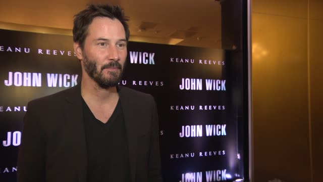at 'john wick' uk special screening at the mayfair hotel on march 25, 2015 in london, england. - keanu reeves stock videos & royalty-free footage