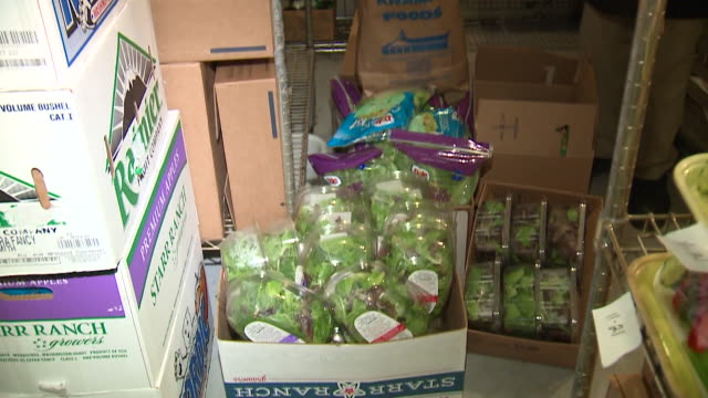 at kramer foods in hinsdale, illinois, every head of romaine lettuce, every bag of mixed greens containing romaine or baby romaine was pulled off the... - escherichia coli video stock e b–roll