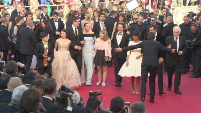 clean at 'le petit prince the little prince' red carpet at palais des festivals on may 22 2015 in cannes france - mackenzie foy stock videos & royalty-free footage