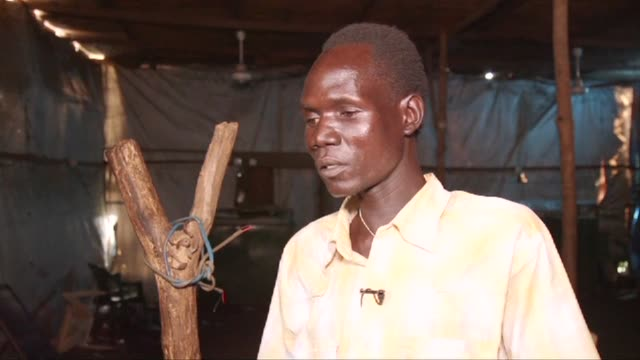 At least 13 people are killed when an angry football fan fired on others watching a match in a bar in South Sudan's capital Juba at the weekend