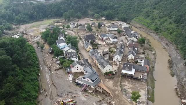 at least 135 people have died and dozens remain missing due to floods in western germany, officials confirmed saturday. more than 90 people lost... - germany stock videos & royalty-free footage
