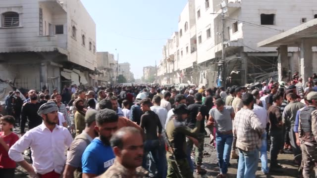 at least 14 civilians were killed and 50 more injured in a bomb blast in northern syria on tuesday, local security sources said. attackers detonated... - exploding stock videos & royalty-free footage