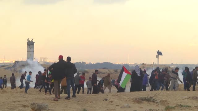 "at least 14 people injured as israeli forces intervene in ""maritime protest"" with real bullets against tel aviv's ongoing blockade of gaza on... - gaza city stock videos & royalty-free footage"