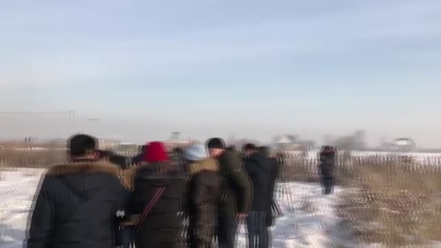 at least 14 people killed and 30 others injured early friday, dec. 27, 2019 when a passenger plane crashes during takeoff in kazakhstan. the bek air... - kazakhstan stock videos & royalty-free footage