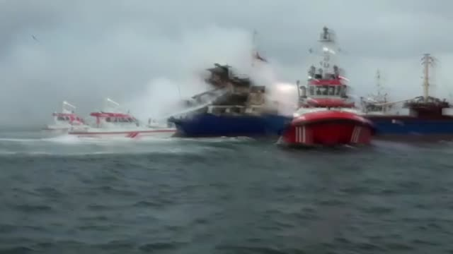 at least 15 crew members were evacuated after a fire erupted at a dry cargo vessel off istanbul's southern coast on friday a local official said... - anchored stock videos & royalty-free footage