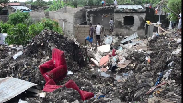 At least 17 people were killed when a rubbish mound collapsed in a poverty stricken district of Mozambique's capital Maputo crushing several nearby...