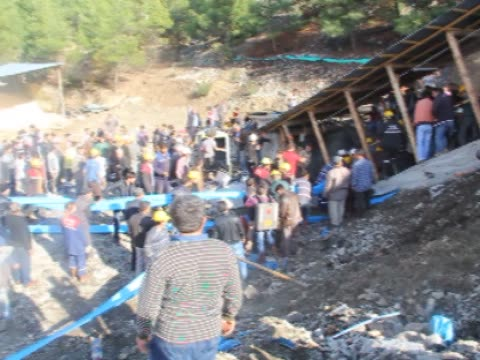 vídeos de stock e filmes b-roll de at least 20 workers remain trapped in a mine in the ermenek district of karaman province in southern turkey after it flooded around noon on october... - meio dia