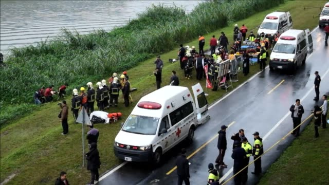 At least 23 people are killed when a turboprop passenger plane operated by TransAsia Airways clipped an overpass and plunged into a river in Taiwan...