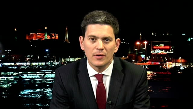 at least 23 people killed in bomb blasts outside iranian embassy in beirut england london gir int david miliband live 2way interview from lebanon sot... - bomb stock videos & royalty-free footage