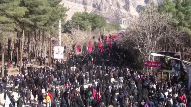 at least 35 mourners were killed and dozens injured in a stampede during the funeral for iranian general qasem soleimani in iran according to the... - stati del mid atlantic usa video stock e b–roll