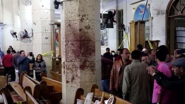 At least 43 people were killed and 119 injured in two church bombings claimed by Daesh terrorist group in Egypt as worshipers were marking Palm...