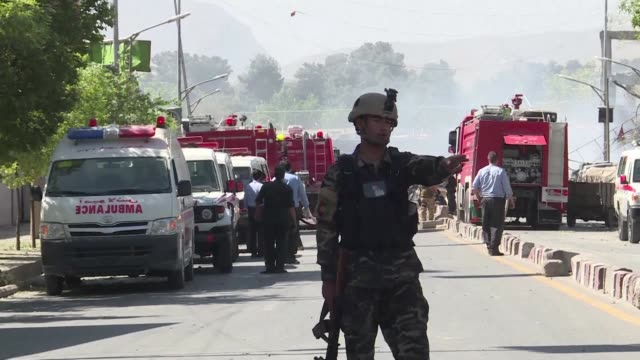 at least 80 people are killed and hundreds wounded when a massive truck bomb ripped through kabul's diplomatic quarter bringing carnage to the... - kabul stock videos & royalty-free footage