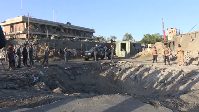 at least 80 people were killed and hundreds wounded wednesday when a massive truck bomb ripped through kabul's diplomatic quarter bringing carnage to... - kabul video stock e b–roll