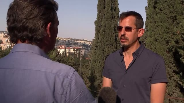 At least eight Palestinians dead after protests along Gaza's border with Israel ISRAEL Hagai ElAd interview with reporter in shot SOT