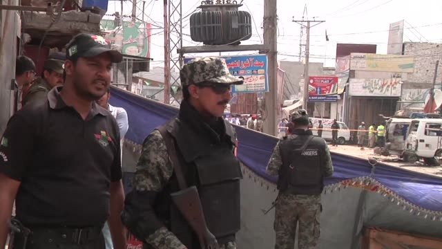 at least five people have been killed and 10 wounded in a blast which appears to have been a taliban attack targeting a census team in pakistan's... - lahore stock videos and b-roll footage