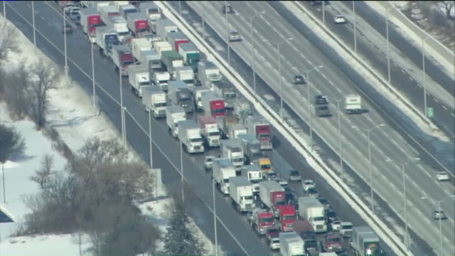 WGN At least five semis were involved in a fiery accident in Gurnee Indiana around 11 am on February 6 on westbound Interstate 94 near Route 21