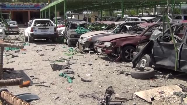 At least four civilians have been killed and 13 others wounded after a suicide bomber detonated his explosive near a convoy carrying US forces in...