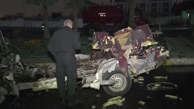 at least four people were killed and nine others wounded on saturday in a car bomb explosion in the iraqi capital of baghdad, a government statement... - 2016 stock videos & royalty-free footage