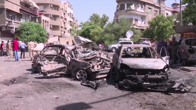 At least nine people were killed and 15 others wounded on Sunday when a suicide bombing struck an eastern district of Damascus a monitor said