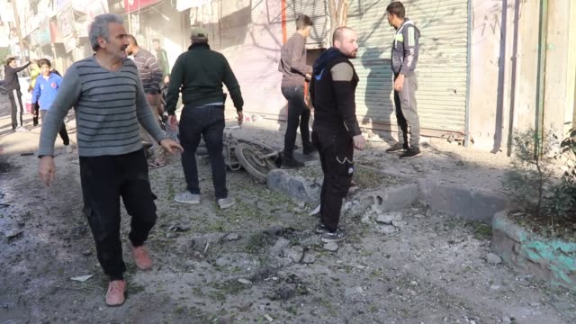 at least one civilian was killed and 13 others injured in northwestern syria in an attack carried out by the ypg/pkk terror group on tuesday. the... - people's protection units stock videos & royalty-free footage