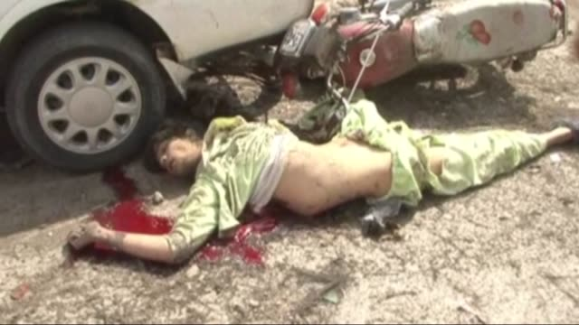 at least seven people have been killed and 21 others wounded when a car bomb exploded in southern afghanistan on march 18, 2015. the attack targeted... - afghanistan stock videos & royalty-free footage