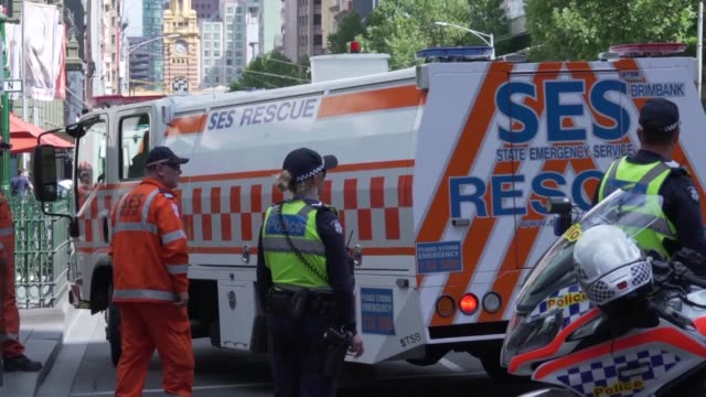 At least three people have died when a car ploughed into pedestrians in the Australian city of Melbourne but police say it is not a terror attack