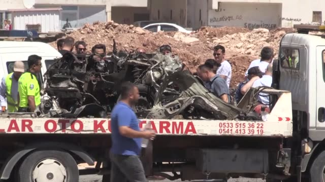 """vidéos et rushes de at least three people were killed after a vehicle exploded in the reyhanli district of southern hatay province on july 05 2019 """"it is obvious that... - gouverneur"""