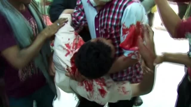 at least three people were killed and 56 others injured on tuesday when shiite houthi militants opened fire on antihouthi protesters in yemen's... - special forces stock videos & royalty-free footage