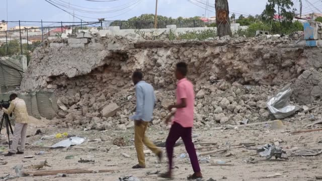 at least three people were killed -- including two al-shabaab attackers -- and several others wounded when a double car bomb blast rocked the somali... - sergeant stock videos & royalty-free footage