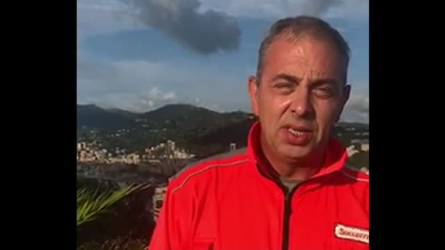 At least twenty people dead in Genoa bridge collapse ITALY Genoa EXT Piero Meloni interview via Internet SOT It looked like an earthquake with tons...