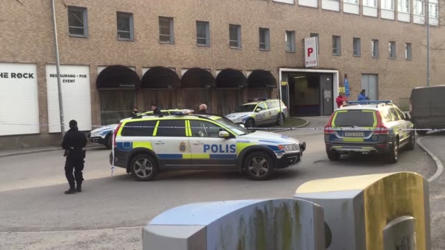 stockvideo's en b-roll-footage met at least two people were injured in an explosion at a metro station in a southern district of the swedish capital stockholm on sunday fire department... - politiedienst