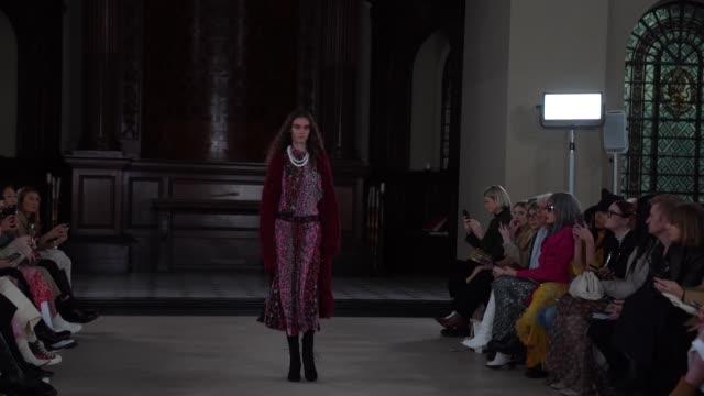 aksu at london fashion week a/w 2020 bora aksu at st george's on february 17 2020 in london england - french overseas territory stock videos & royalty-free footage